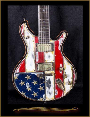 McSwain Guitars Red, White, and Bullets American Flag SM-1