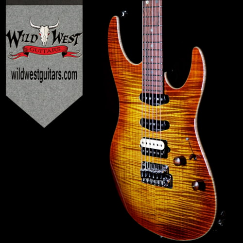2017 Suhr Suhr Custom Modern Flame Maple Top Copperhead Burst Cocobolo Neck HSS