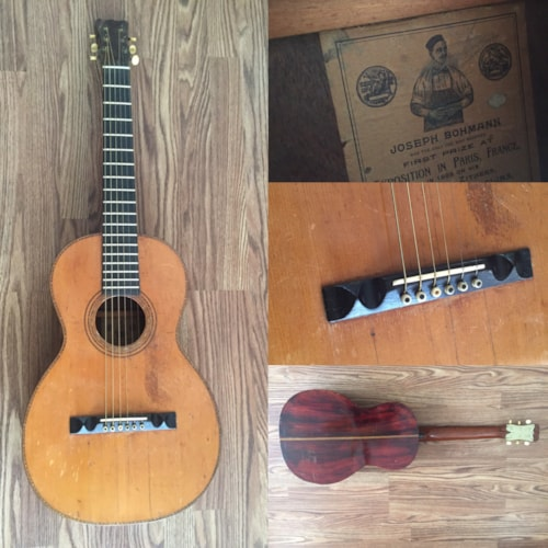 ~1890 Joseph Bohmann Om Brazilian Rosewoo sides and back 1890s Extremely rare guitar