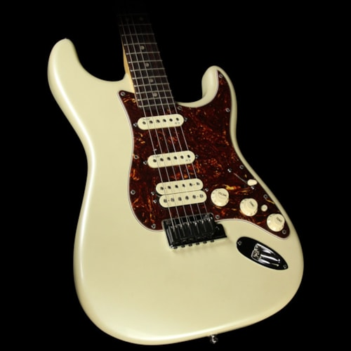 Fender® Used 2012 Fender® American Deluxe Stratocaster® HSS Electric Guitar Olympic Pearl