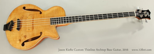 2016 Kiefte Custom Thinline Archtop Bass