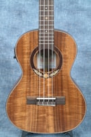 2017 LEHO SOLID ACACIA TENOR UKULELE, WITH PICKUP AND GIGBAG