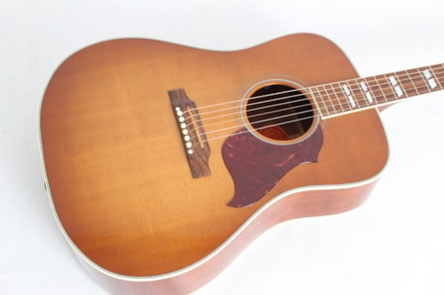 2011 Gibson Hummingbird Artist Acoustic-Electric Washed Heritage Cherry