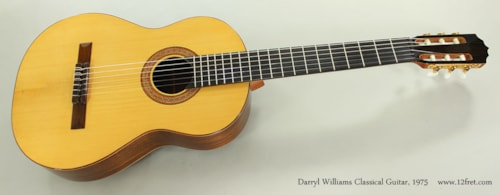 1975 Darryl Williams Classical Guitar