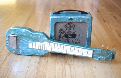 1952 Magnatone Lap Steel & Matching Tube Amp, Noble Branded