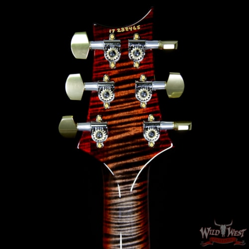 2017 PRS - Paul Reed Smith PRS Wood Library Artist Package Quilt Custom 24/08 African Blackwood Fretboard Charcoal Cherry Burst