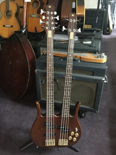 ~1980 Hondo Longhorn Double Neck 8/4 Bass Guitar