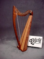 2017 NOTEWORTHY COUNTY KERRY 24-STRING WALNUT HARP & BAG