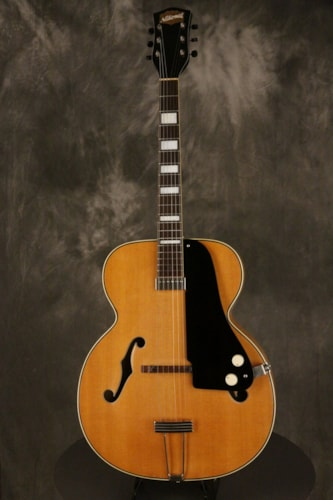 "1951 National California electric archtop FLAME MAPLE back/sides 17"" body"