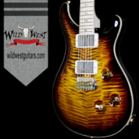2017 PRS - Paul Reed Smith PRS Wood Library Flame 10 Top Custom 24 Black Gold