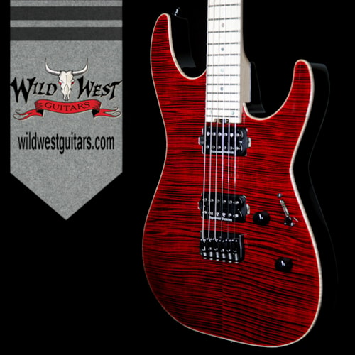 2017 ESP ESP USA M-II Hardtail Flame Maple Top with Maple Fretboard See Thru Black Cherry