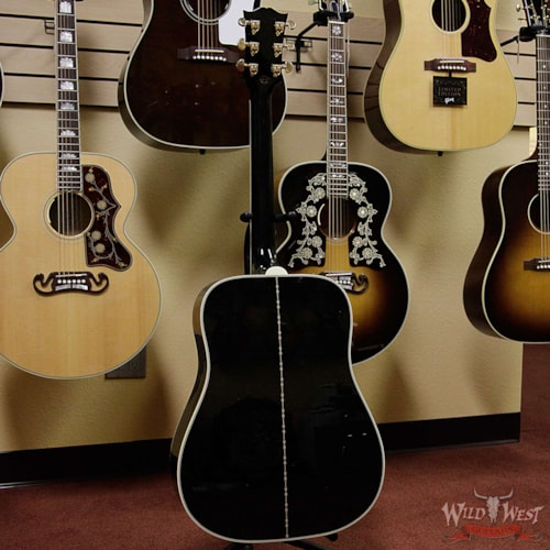 2016 gibson custom shop dove abalone custom ebony acoustic electric guitar ebony guitars. Black Bedroom Furniture Sets. Home Design Ideas