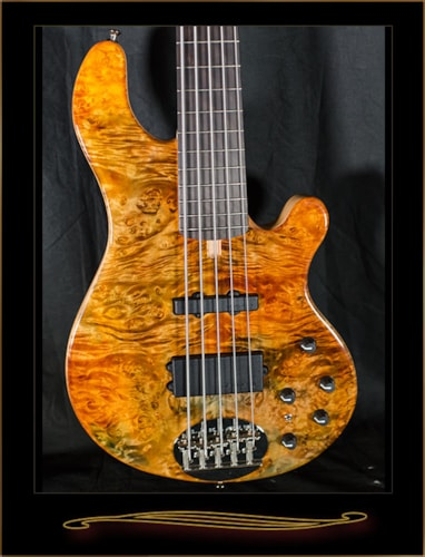 Lakland 55-94 Deluxe with Stained Buckeye Burl Top