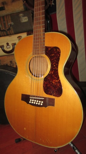 1973 Guild Model F212 12 String Natural Gt Guitars 12