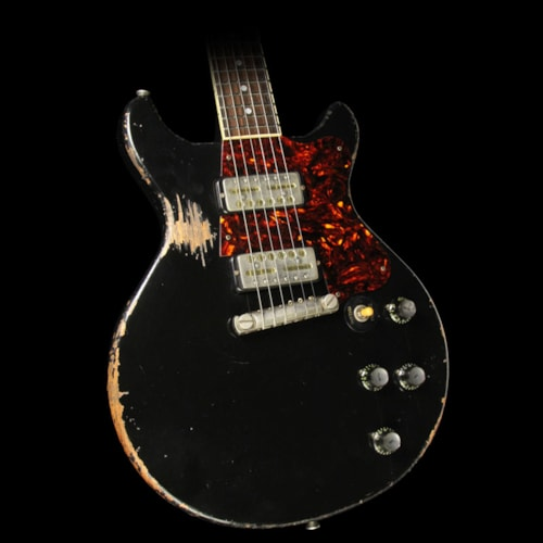 Rock N Roll Relics Thunders Electric Guitar Aged Black with Lollar Gold Foils