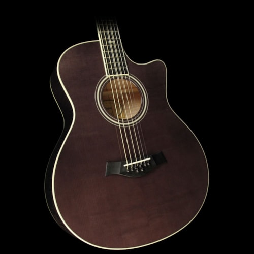 Taylor Custom Shop Grand Symphony Baritone 8-String Acoustic/Electric Guitar Sitka Spruce and Flame Maple Charcoal Black
