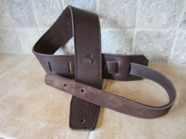 "2017 Italia Leather Straps 2.5"" Wide Chocolate-Dark Brown Suede Backing"