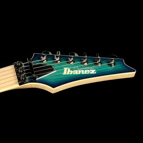 Ibanez Used 2015 Ibanez RG Prestige RG652AHM Electric Guitar Nebula Green Burst