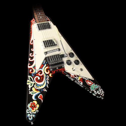 2006 Gibson Custom Shop Used 2006 Gibson Custom Shop Jimi Hendrix Psychedelic Flying V Hand Painted Electric Guitar