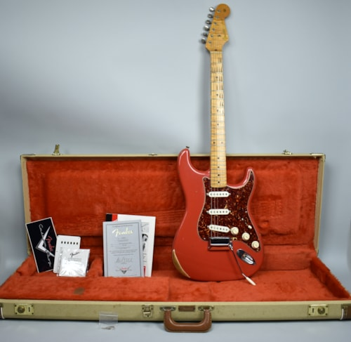 2000 Fender 1956 Reissue Custom Shop Stratocaster Fiesta Red Relic w/OHS