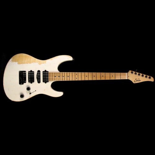 Suhr Modern Extreme Antique Ash Electric Guitar Tranparent White