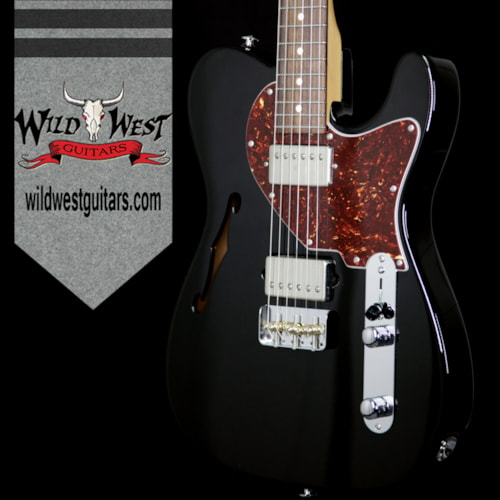 2017 Suhr Suhr Alt T Pro HH Semi-Hollow Limited Edition Rosewood Fretboard Black