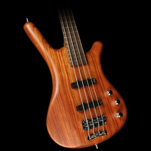 Warwick Pro Series Corvette Bubinga Electric Bass Guitar Natural Trans Satin