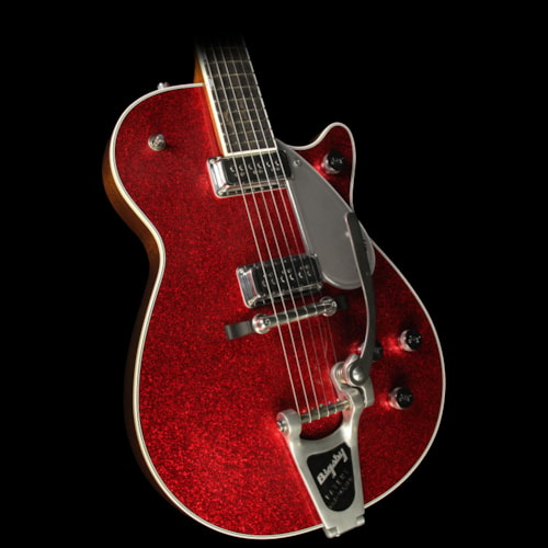 Gretsch Custom Shop 1958 G6129TCS Sparkle Jet Relic Electric Guitar Red Sparkle