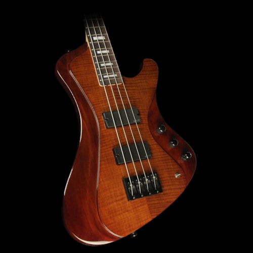 ESP Used ESP LTD Stream-1004 4-String Electric Bass Guitar Walnut Brown