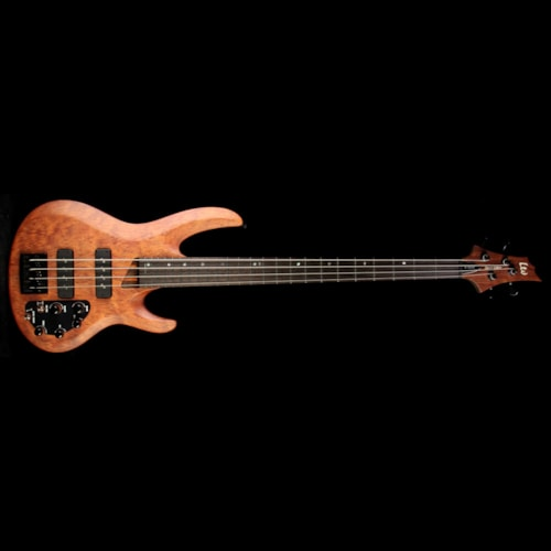 ESP Used ESP LTD B-1004SE Bubinga 4-String Electric Bass Natural Satin