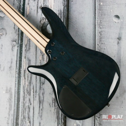 Ibanez SR400EQM Bass Guitar - Quilted Maple Faded Blue Burst