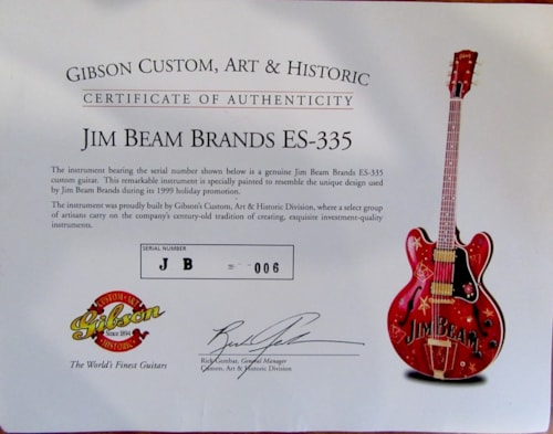 "1999 Gibson ES-335 ""JIM BEAN BRANDS"" Ltd. Ed."
