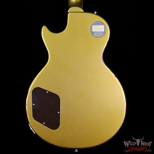 "2017 Gibson 2017 Gibson Custom Shop Les Paul Standard ""Painted Over"" Gold Top over Cherry Sunburst 8.1 Pounds"