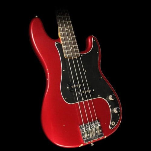 Fender® Nate Mendel Signature Precision Bass® Guitar Road Worn Candy Apple Red