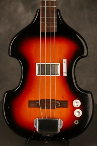 1965 Supro Violin shaped solid body BASS Long Scale Neck