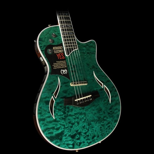 Taylor T5z Custom Quilt Maple Acoustic-Electric Guitar Doheny Green