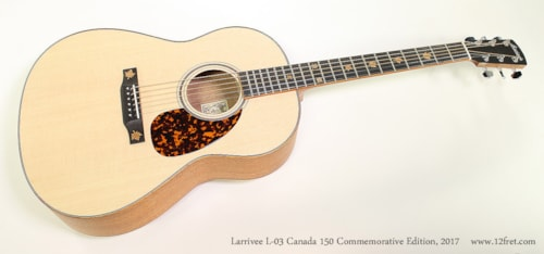 Larrivee L-03 Canada 150 Commemorative Edition
