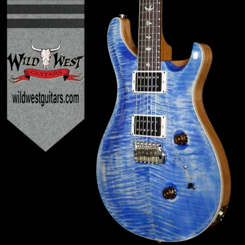 2017 PRS - Paul Reed Smith PRS Paul Reed Smith Flame Maple Top Custom 24 Rosewood Fretboard Faded Blue Jean