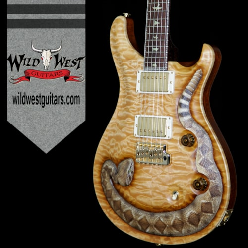 2017 PRS - Paul Reed Smith PRS PS6691 Wild West Custom 24 Snake LTD 1 of 6 Quilt Maple Top Rosewood Fretboard and Neck Natural