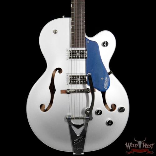2017 Gretsch G6118T Players Edition w/ Bigsby Filter Tron Pickups 2 Tone Iridium Silver/Azure Metallic