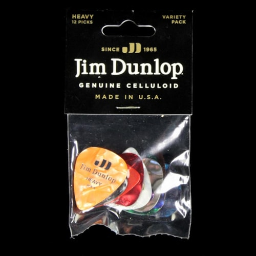 Dunlop PVP106 Celluloid Guitar Picks Variety 12-Pack Heavy