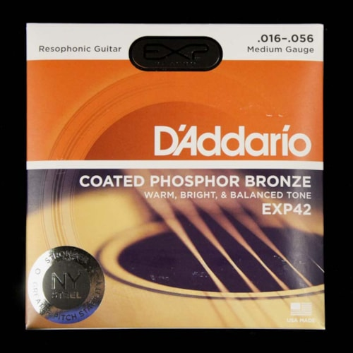 D'Addario EXP Phosphor Resophonic Acoustic Strings Bluegrass 16-56
