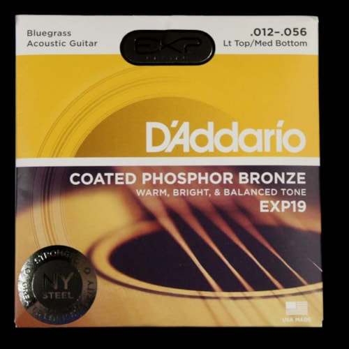 D'Addario EXP Phosphor Acoustic Strings Bluegrass Light Top Medium Bottom 12-56