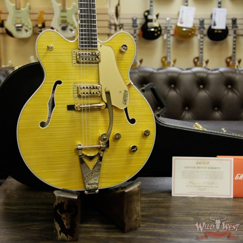 2017 Gretsch® G6122TFM Players Edition Country Gentleman with Bigsby Filter Tron Pickups Amber Stain