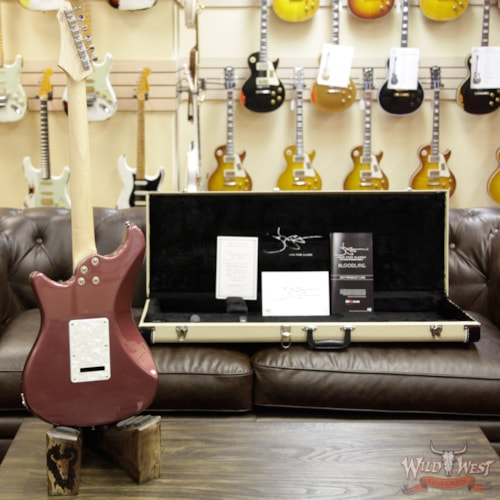 2017 John Page Classic Ashburn SSS Limited 27 of 40 Rosewood Fretboard Burgundy Mist Metallic w/G&G Case