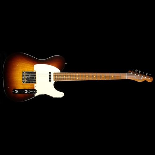 2016 Fender Custom Shop Used 2016 Fender Custom Shop Masterbuilt Dennis Galuszka Brazilian Rosewood Neck Telecaster Relic Electric Guitar Wide Fade Chocolate 2-Tone Sunburst