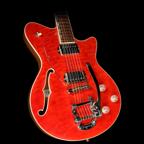 Koll Used 2011 Koll Duo Glide Electric Guitar Transparent Red Quilt Top
