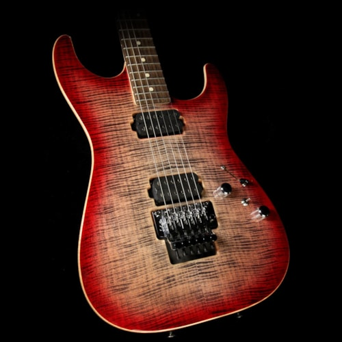 Tom Anderson Used 2017 Tom Anderson Guitarworks Drop Top Electric Guitar Natural Black to T-Red Burst