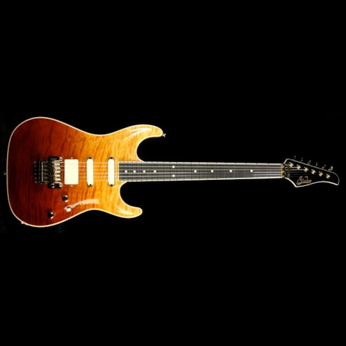 2014 Suhr Used 2014 Suhr Standard Carve Top Electric Guitar Trans Honey/Cherry