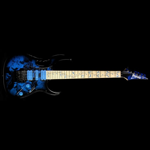 2015 Ibanez Used 2015 Ibanez Jem 77P Electric Guitar Blue Floral Pattern